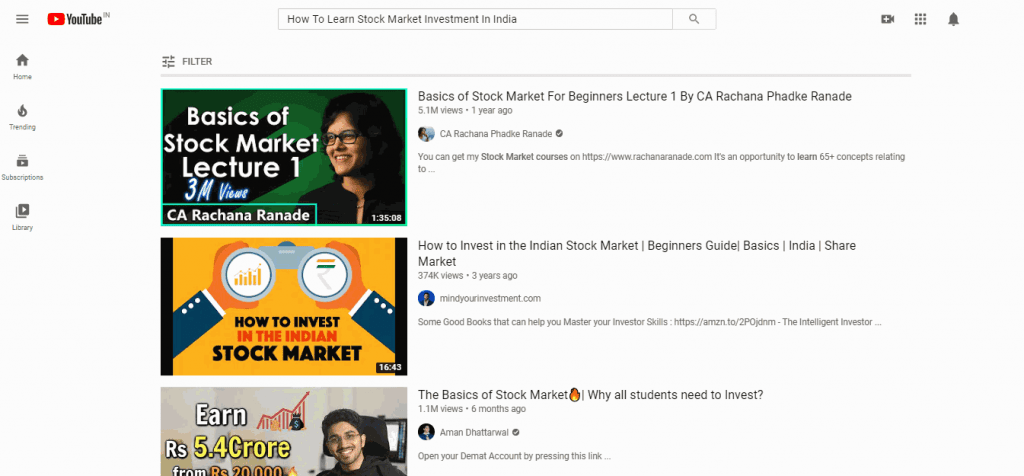 Learn Stock Market On Youtube!