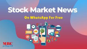 Stock Market Update On WhatsApp